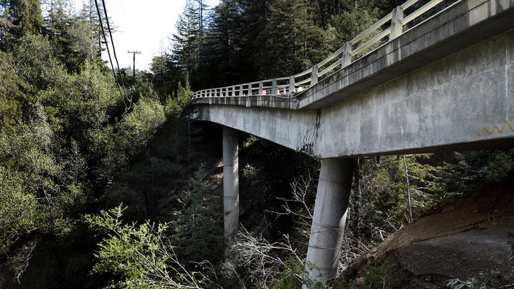 A landslide in the Big Sur Valley damaged the Pfeiffer Canyon Bridge, forcing the closure of Highway One. The bridge, which was condemned, since has been demolished. Caltrans hopes to have a new bridge in place by October.