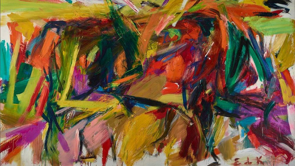 """Elaine de Kooning's """"Bullfight,"""" 1959, is part of the Palm Springs Art Museum's """"Women of Abstract Expressionism"""" exhibition, made possible with indemnity support from an NEA-administered program. (Jeff Wells / Denver Art Museum / Estate of Elaine de Kooning)"""