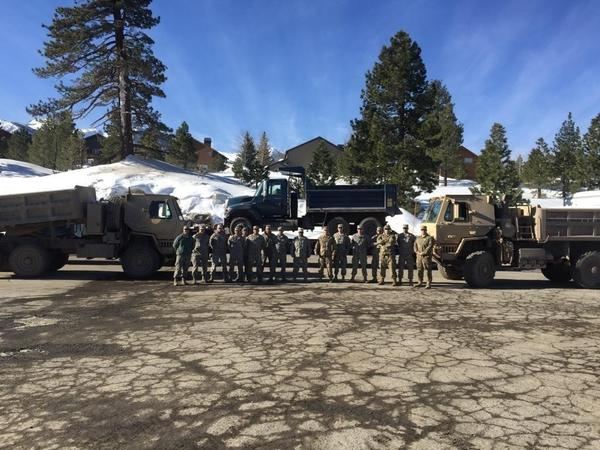 Mammoth issues SOS (shovel our snow), so state sends in the troops to help it cope