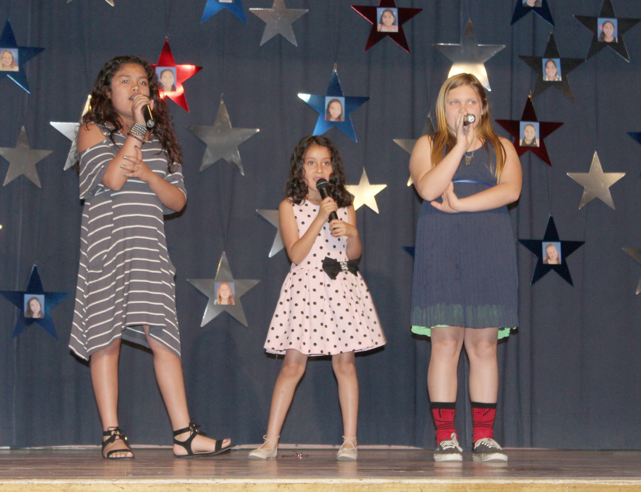 "Aalyah and Isabella Corest and Savanna Crenshaw sing   ""Tear in My Heart."""