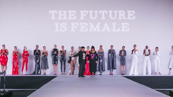 Capes, gowns and 'Filthy Feminist' T-shirts among the highlights of Los Angeles' assorted fashion weeks