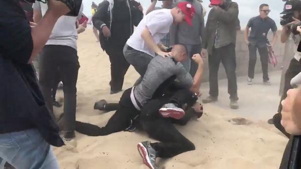 Pro-Trump rally in Huntington Beach today expected to draw big crowds and protesters