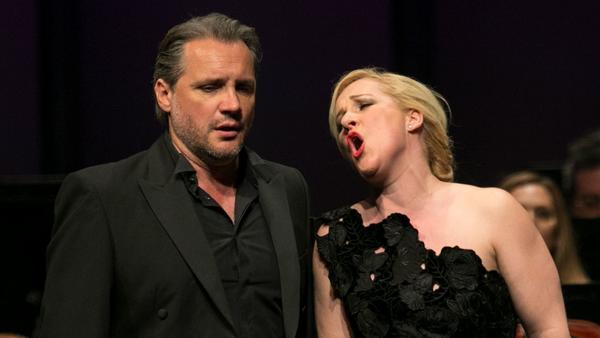 Villain and heroine: The real-life husband and wife onstage in 'Tales of Hoffmann'