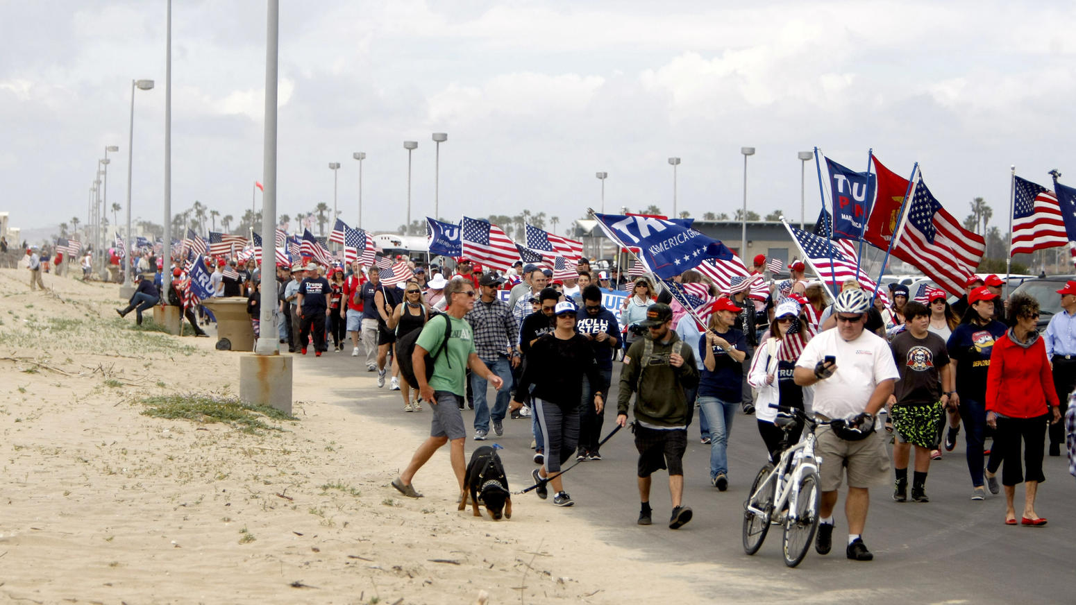 Photo Gallery: Make America Great Again march at Bolsa Chica State Beach