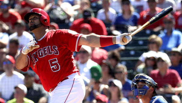 Albert Pujols homers in Angels