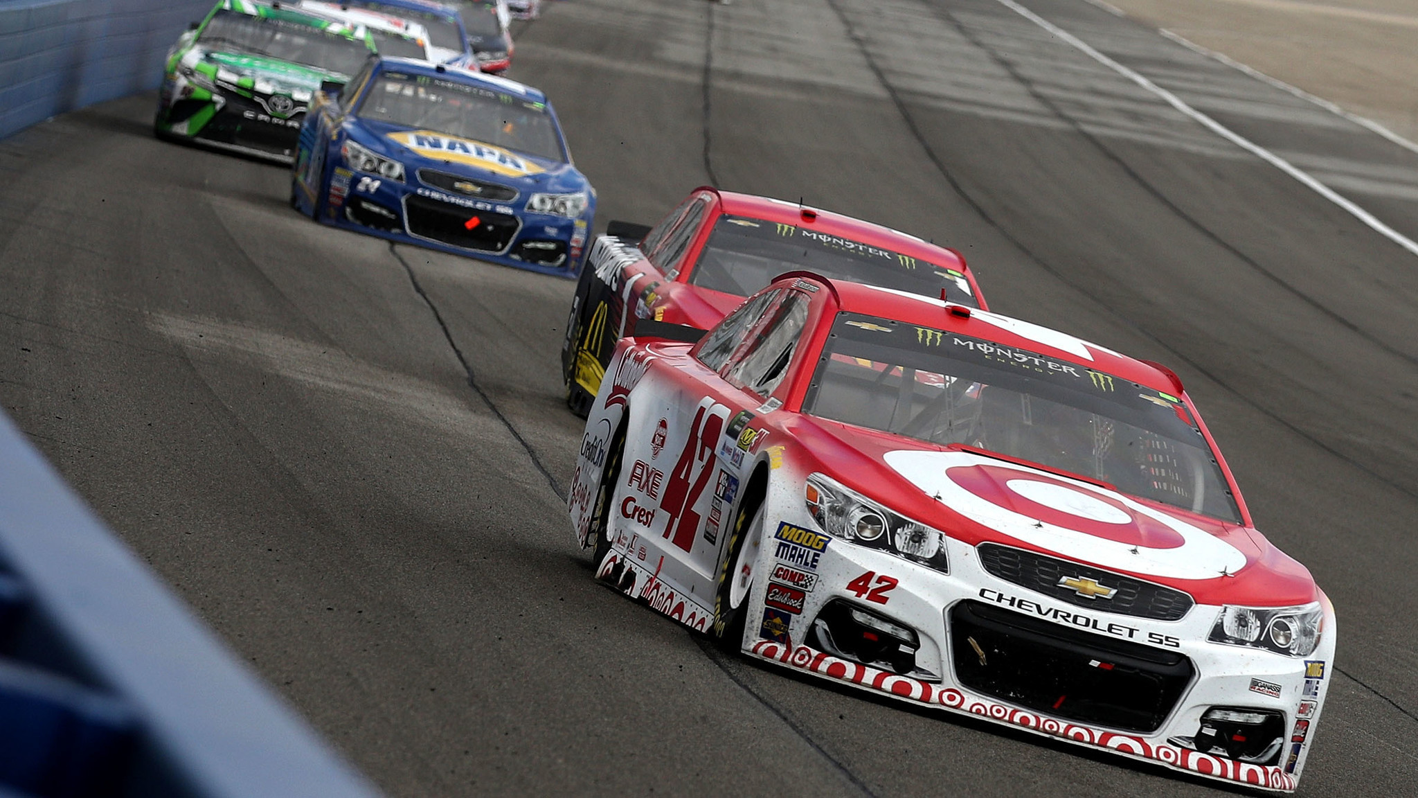 Kyle larson gets first nascar cup win of season at auto for Larson motors used cars