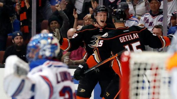 Ryan Getzlaf Uses Power Steering To Help The Ducks Pound The Rangers, 6-3