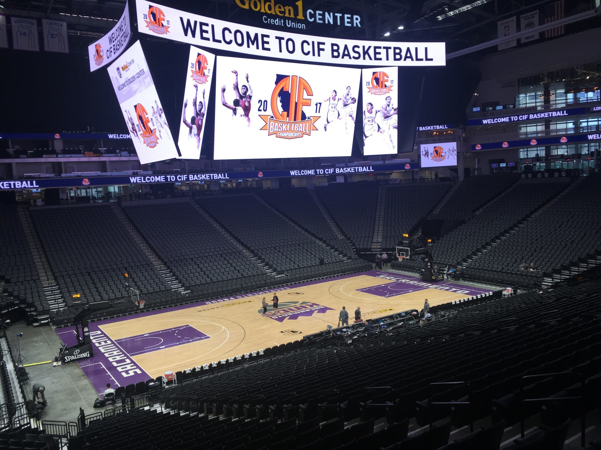 Inside the Golden 1 Center in Sacramento