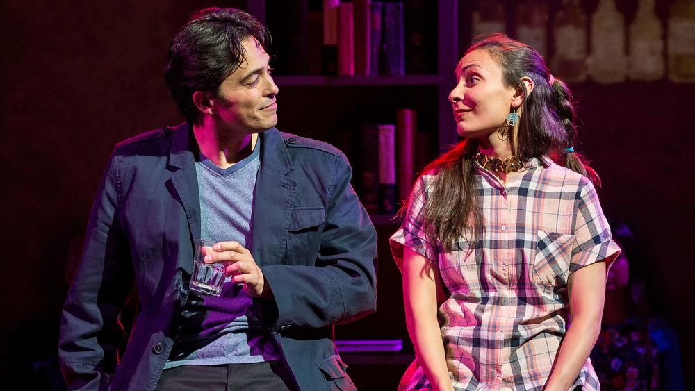"""Jason Grasl and Kyla Garcia in """"Fairly Traceable,"""" presented by Native Voices at the Autry. (Craig Schwartz)"""