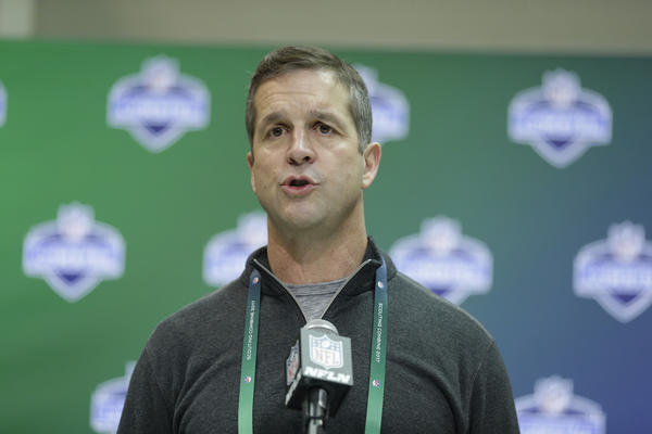 Highlights from John Harbaugh's media session at the league meetings