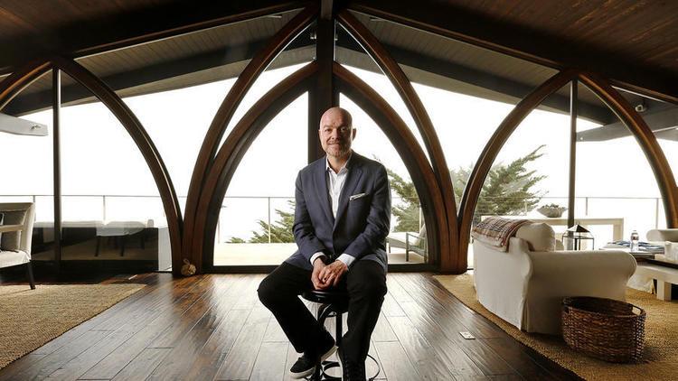 The TV personality, Sean Conlon, tore down walls to create a massive living room.