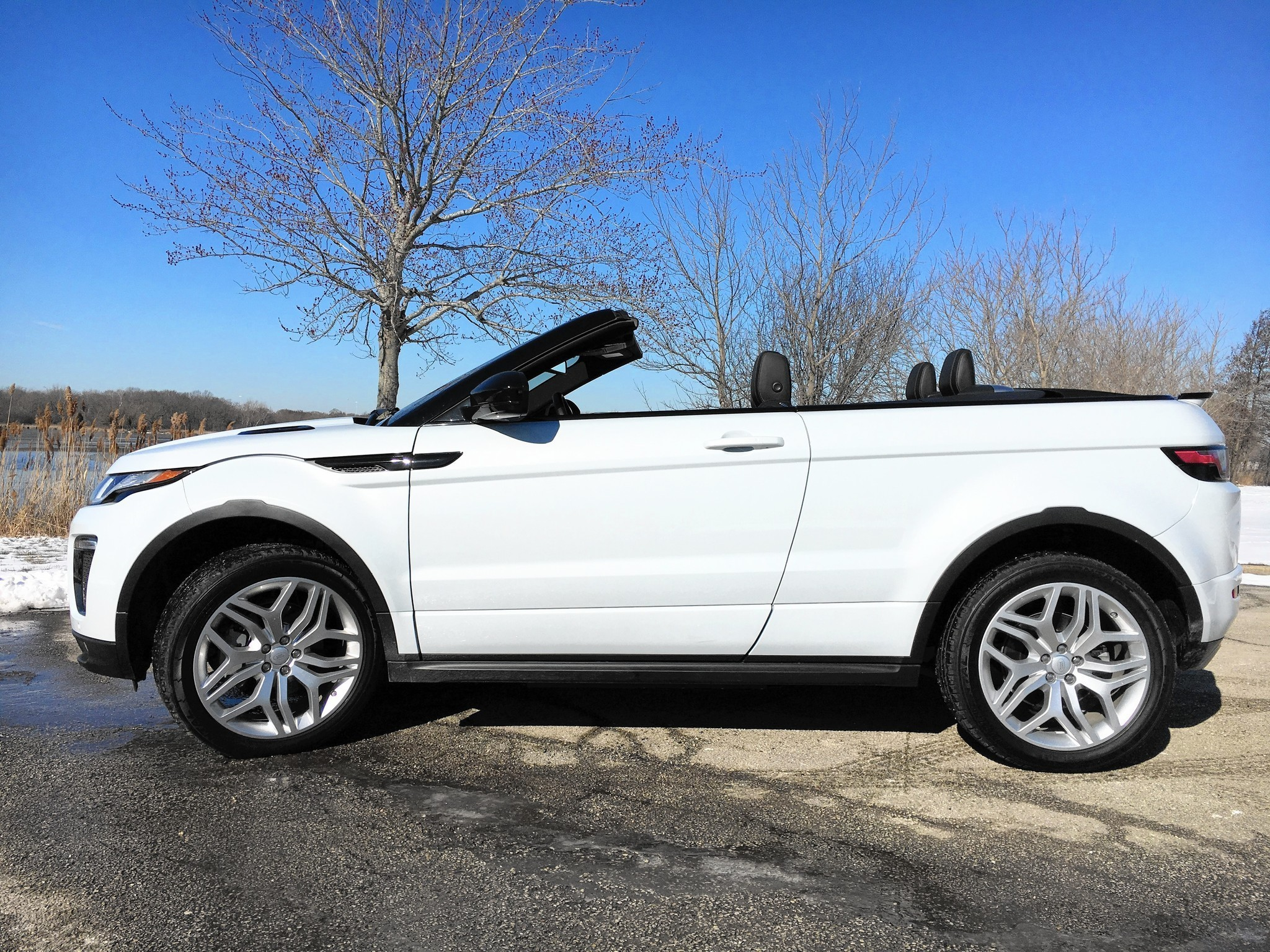 Evoque crossover convertible built to go anywhere except my