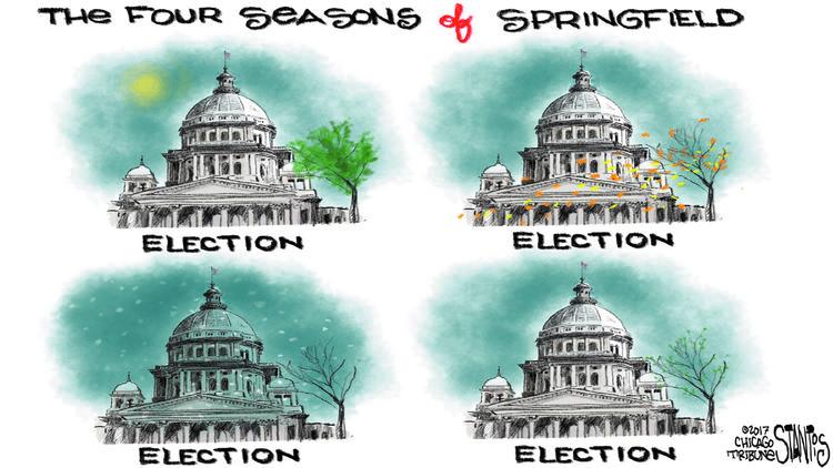 The Four Seasons of Springfield – Scott Stantis Cartoon