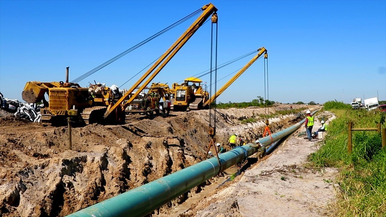 Gas Pipeline Pipe : Sabal trail pipeline brings natural gas and protests