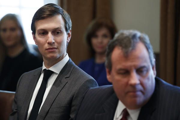 Jared Kushner, senior advisor to President Trump, is seen Wednesday in the Cabinet Room of the White House in Washington, D.C. (Evan Vucci / Associated PressP)