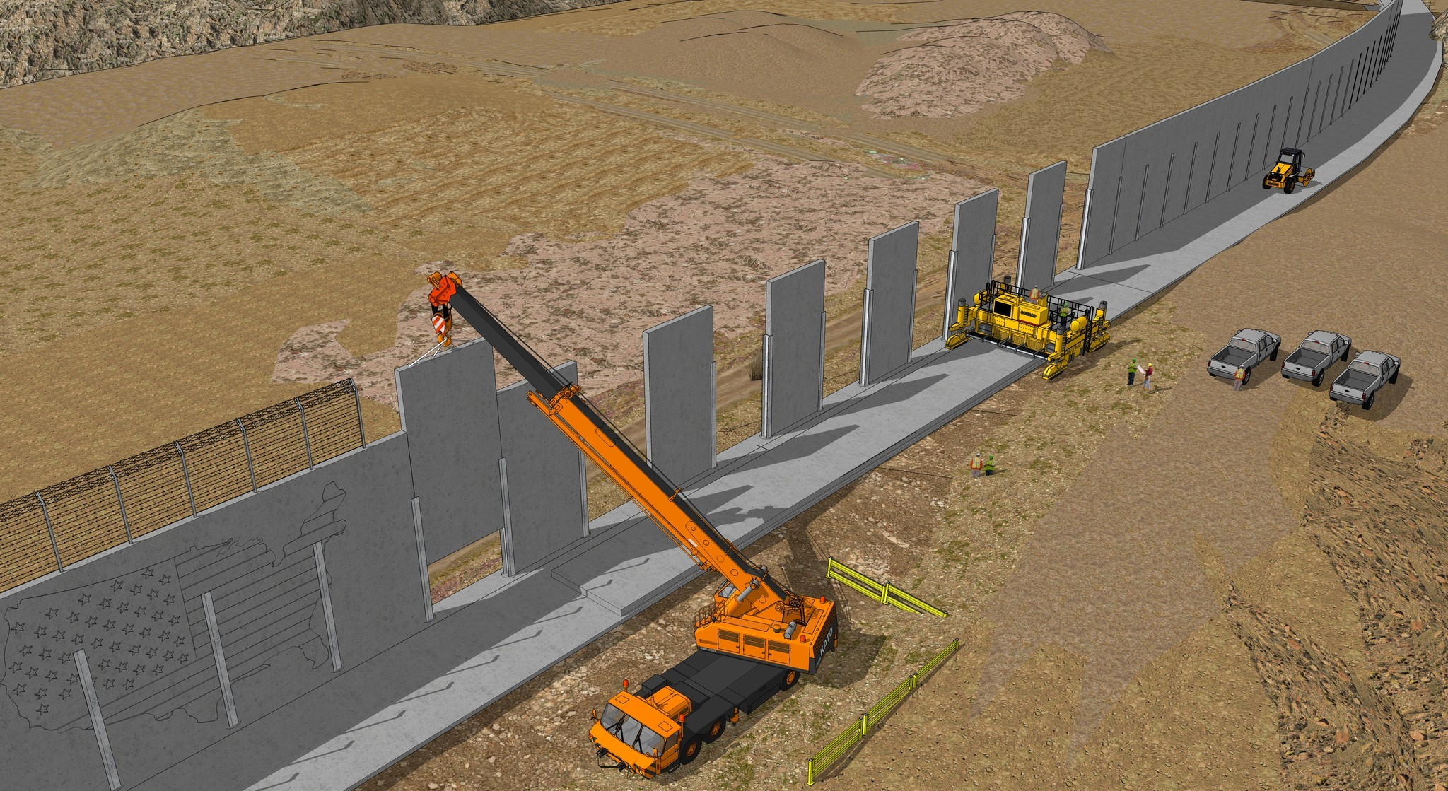 Exclusive preview trump border wall proposals the san for New construction design ideas