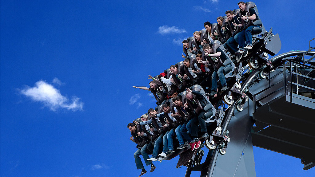 The Dive Coaster From Switzerland Based Ride Maker Bolliger Mabillard Features A 90