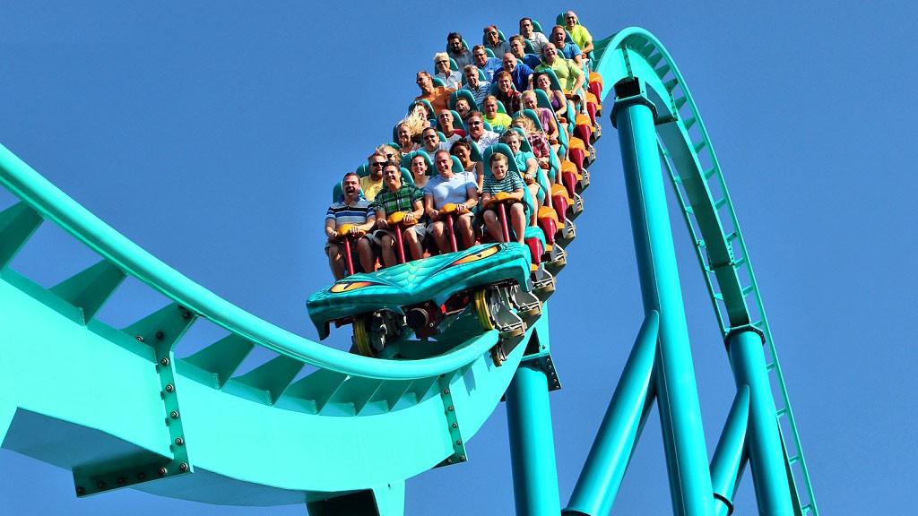 A 200-foot-tall hyper coaster by ride-maker Bolliger & Mabillard can reach speeds exceeding 90 mph.