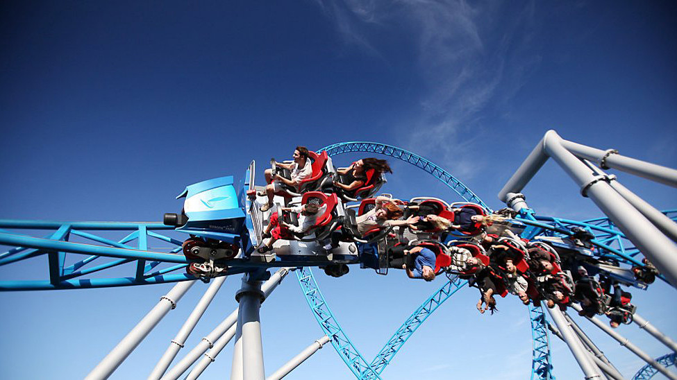 The mega coaster by Germany-based Mack Rides features a 60 mph launch and four inversions.