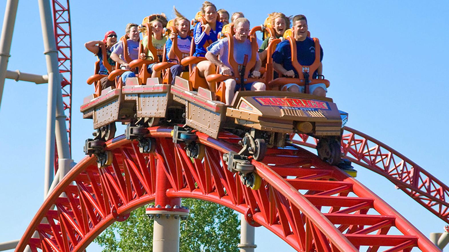 The Maverick multi-launch coaster at Ohio's Cedar Point.