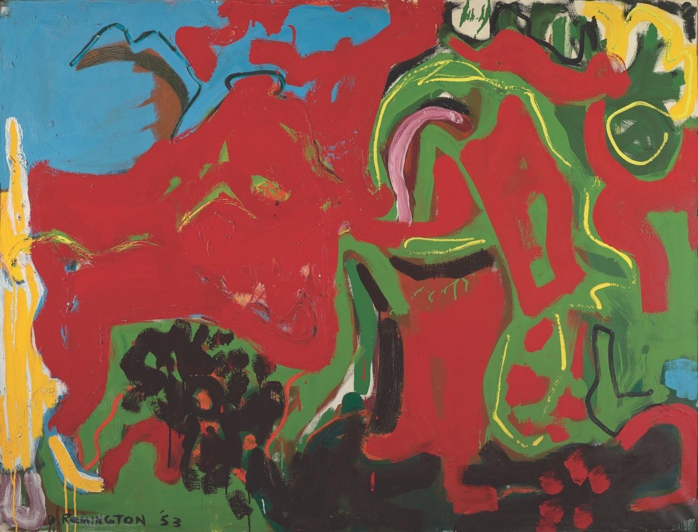"Deborah Remington, ""Apropos or Untitled,"" 1953, oil on canvas"