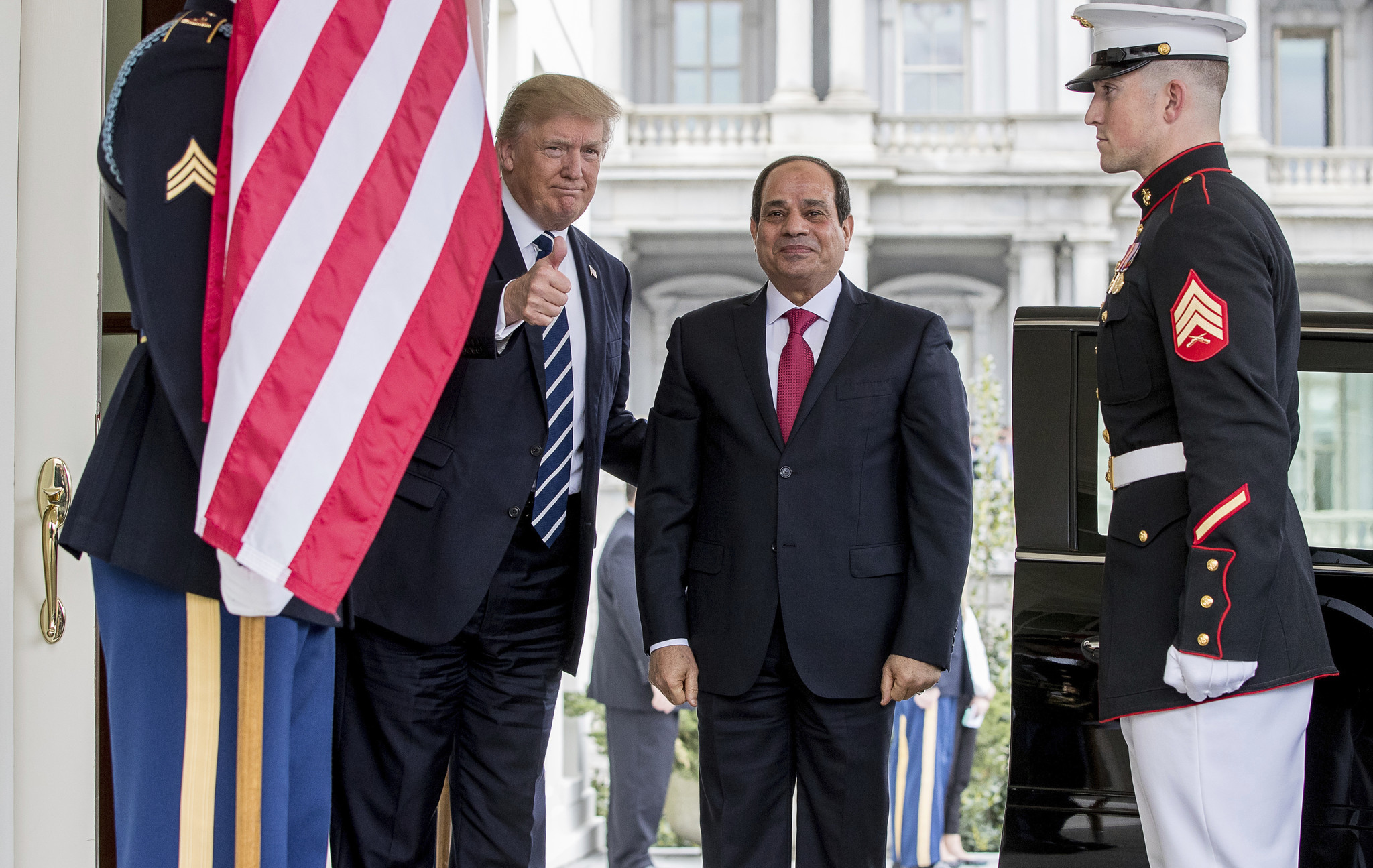 Trump says U.S. will forge a 'great bond' with Egypt