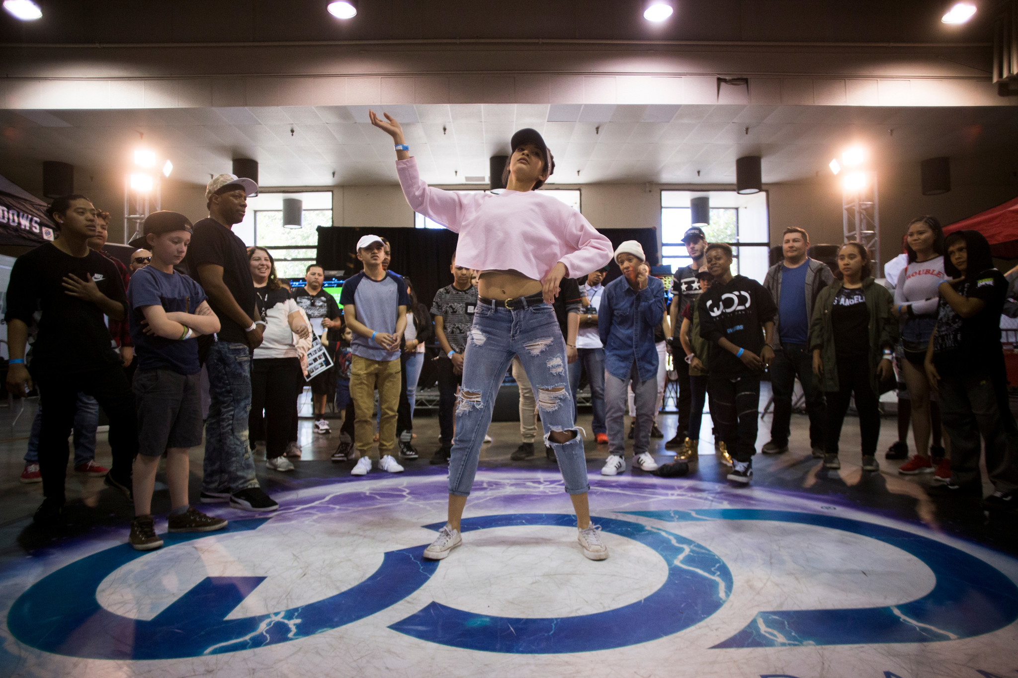 Acacia Harrell, 16, of Ventura dances hip-hop style.