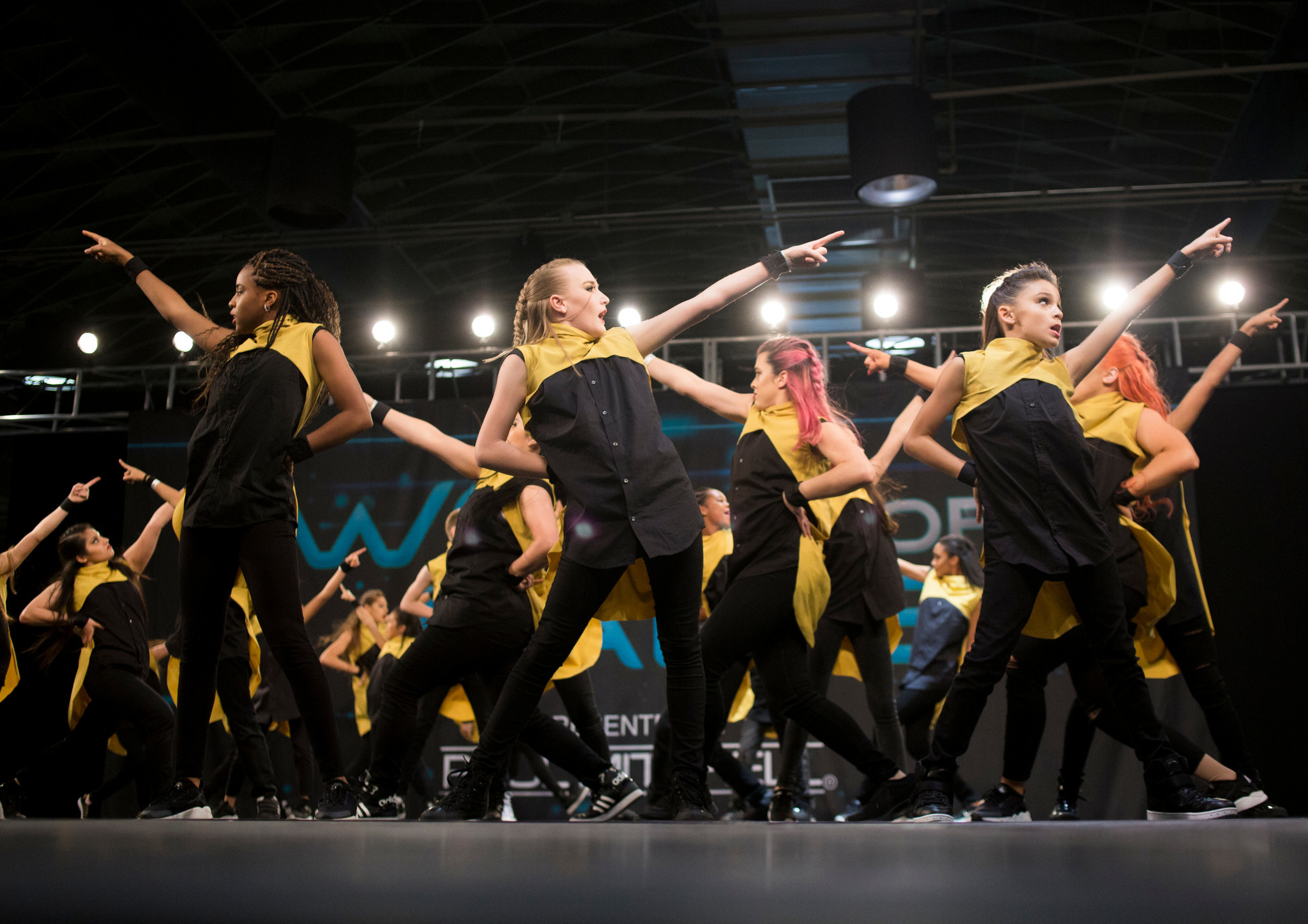 Los Angeles-based MDC Crew perform in the youth division.