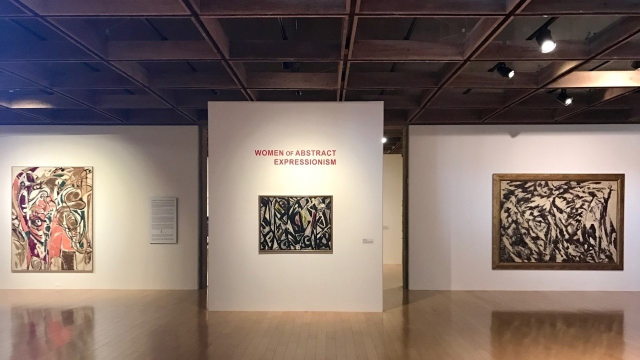 a groundbreaking show to confront the gender bias in art women women of abstract expressionism installation view