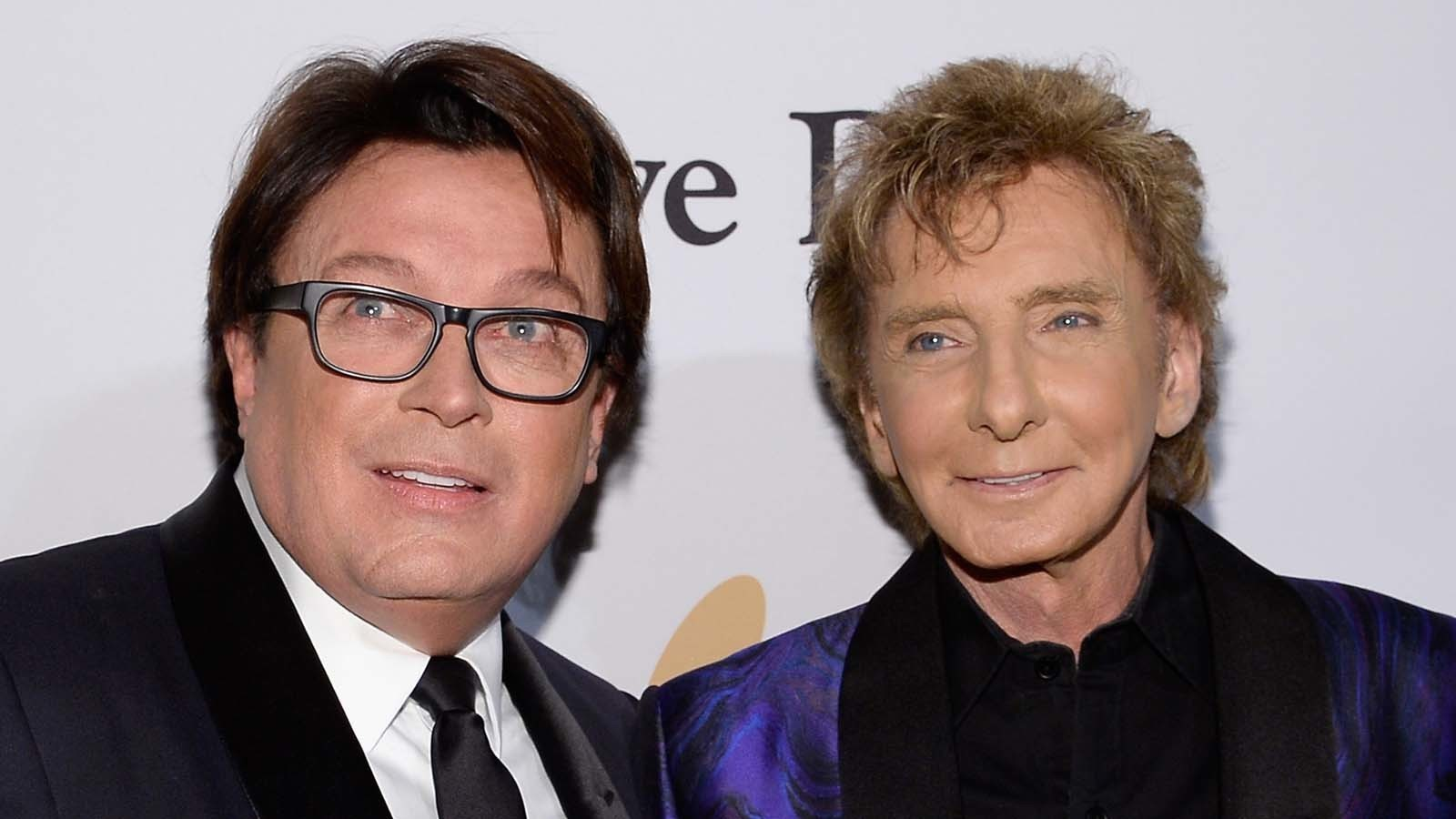 Garry Kief, left, and Barry Manilow in 2016.