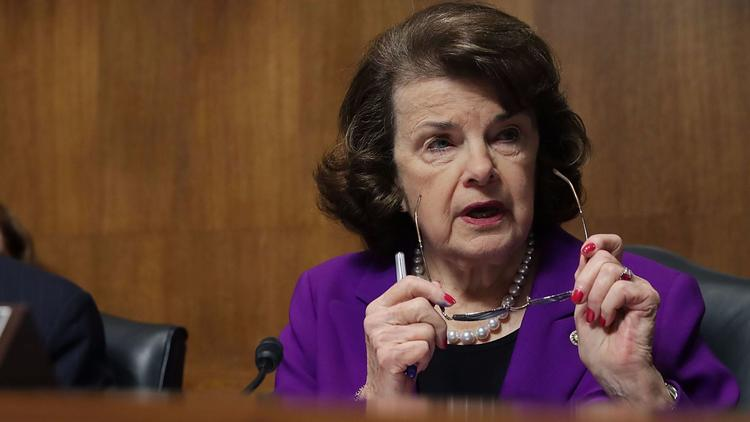 Sen. Dianne Feinstein did not sign on to the lawsuit against President Trump. (Chip Somodevilla / Getty Images)