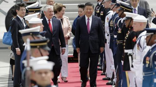 Pres. Xi Jinping arrices in West Palm