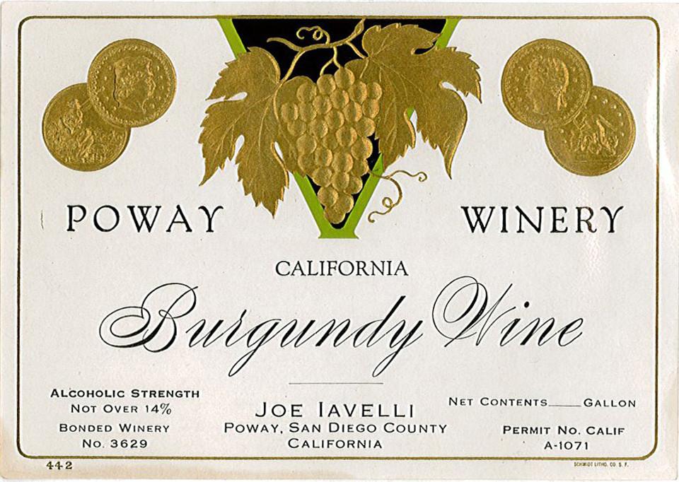 Poway Winery label