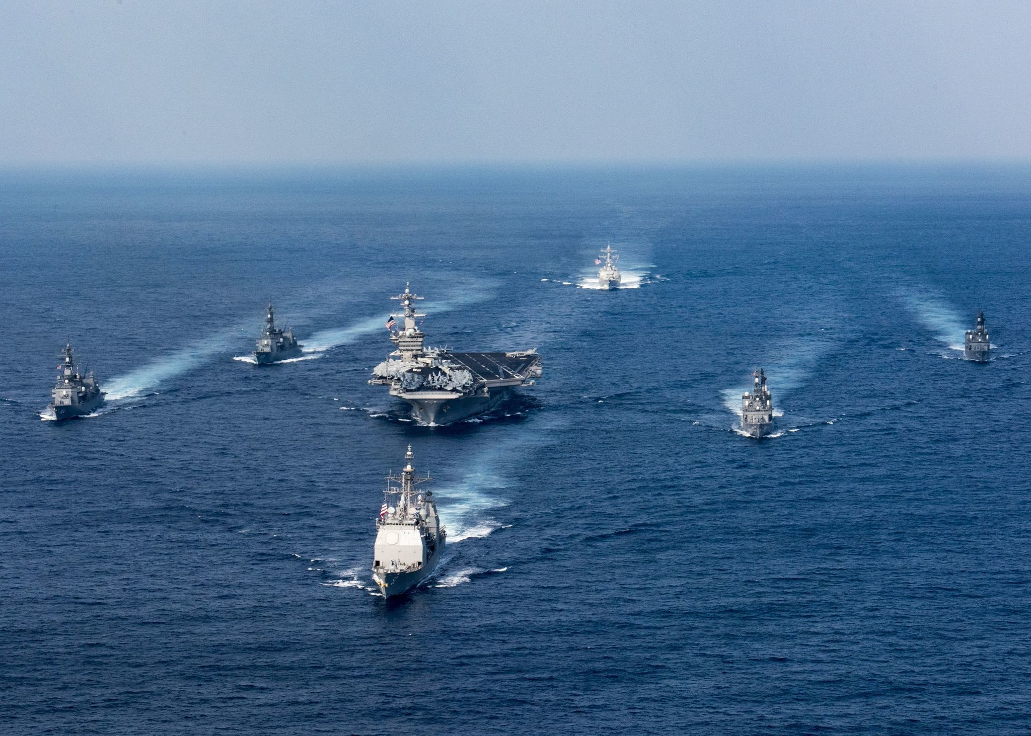 Image result for photos of navy ships headed to australia instead of n korea