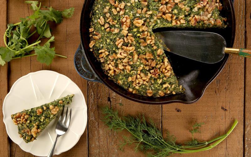 Persian greens frittata (kuku sabzi)
