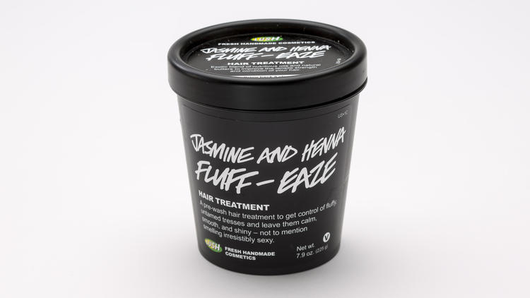 Lush Fresh Handmade Cosmetics' Jasmine and Henna Fluff -- Eaze hair treatment.