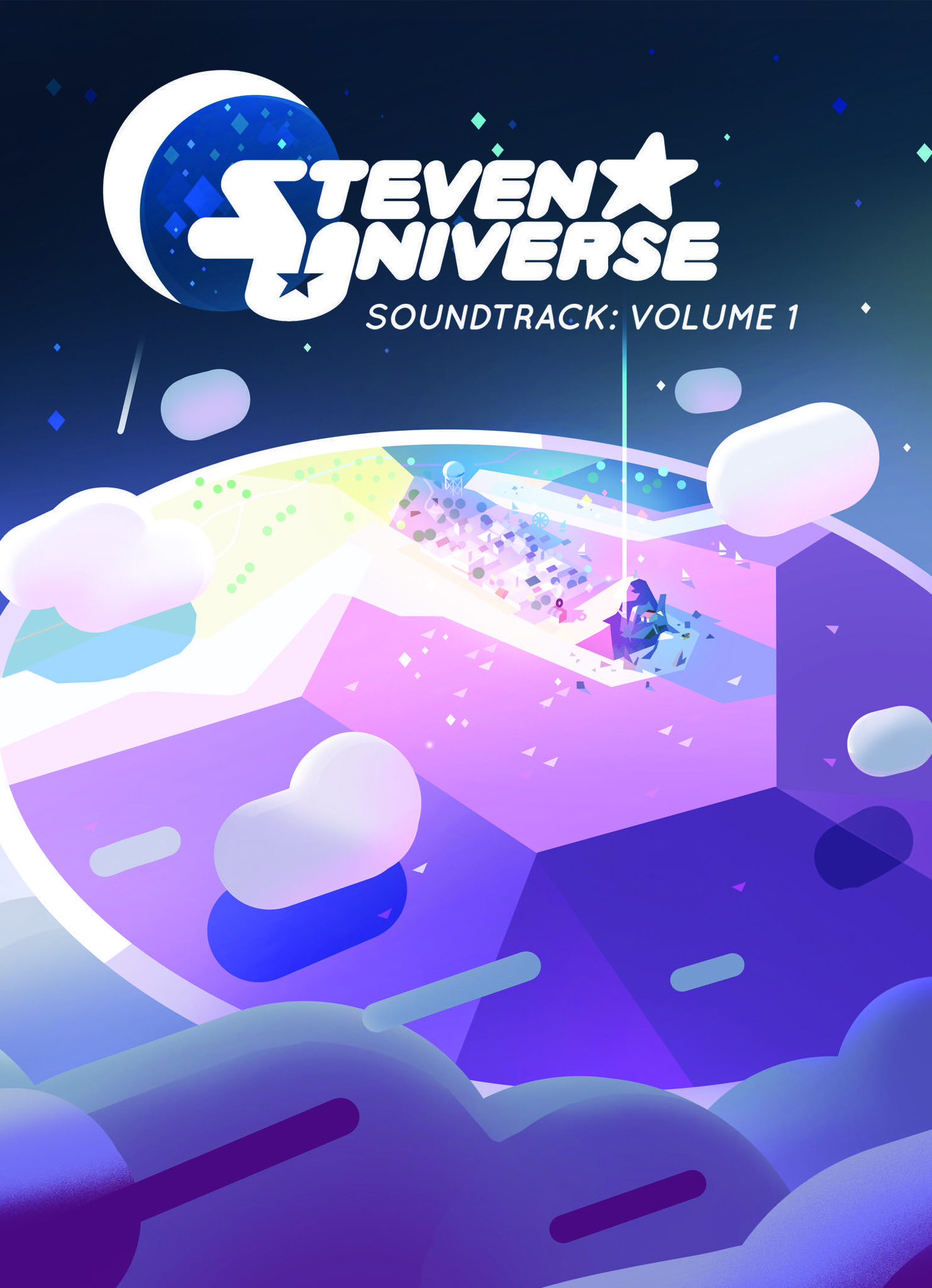 "The cover for ""Steven Universe Soundtrack Volume 1."""