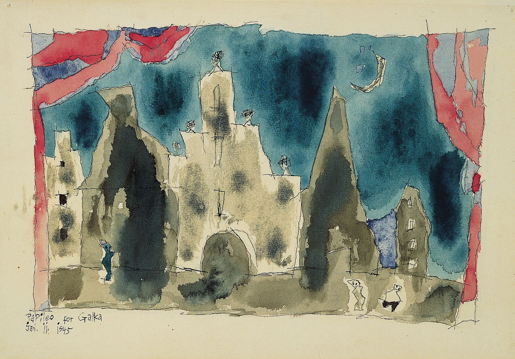 Untitled, 1945, by American artist Lyonel Feininger (1871-1956)
