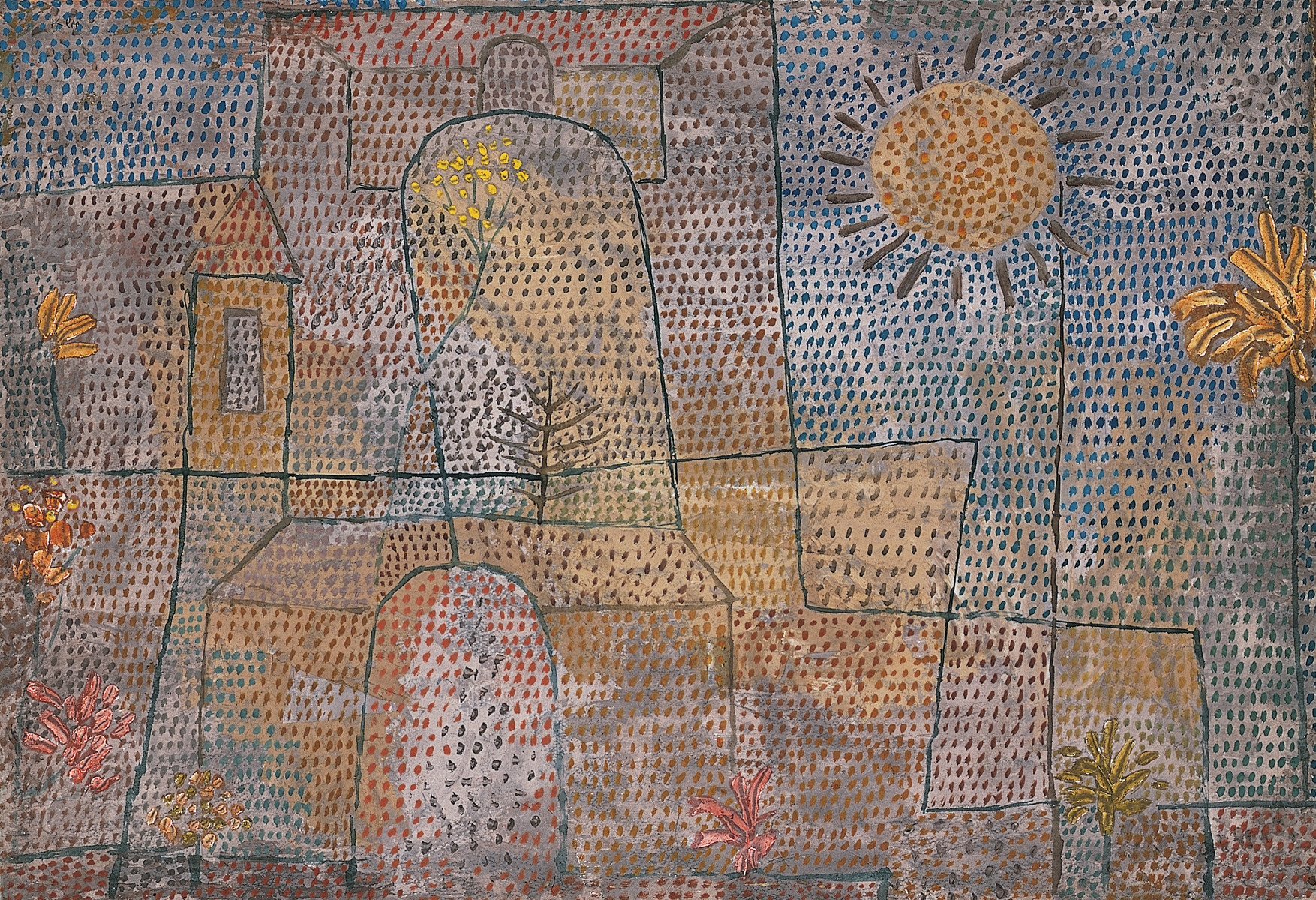 """Plants in the Courtyard,"" 1932, by Swiss artist Paul Klee (1879-1940)"