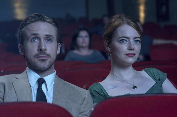 """Ryan Gosling and Emma Stone in """"La La Land."""" (Dale Robinette / Lionsgate via Associated Press)"""