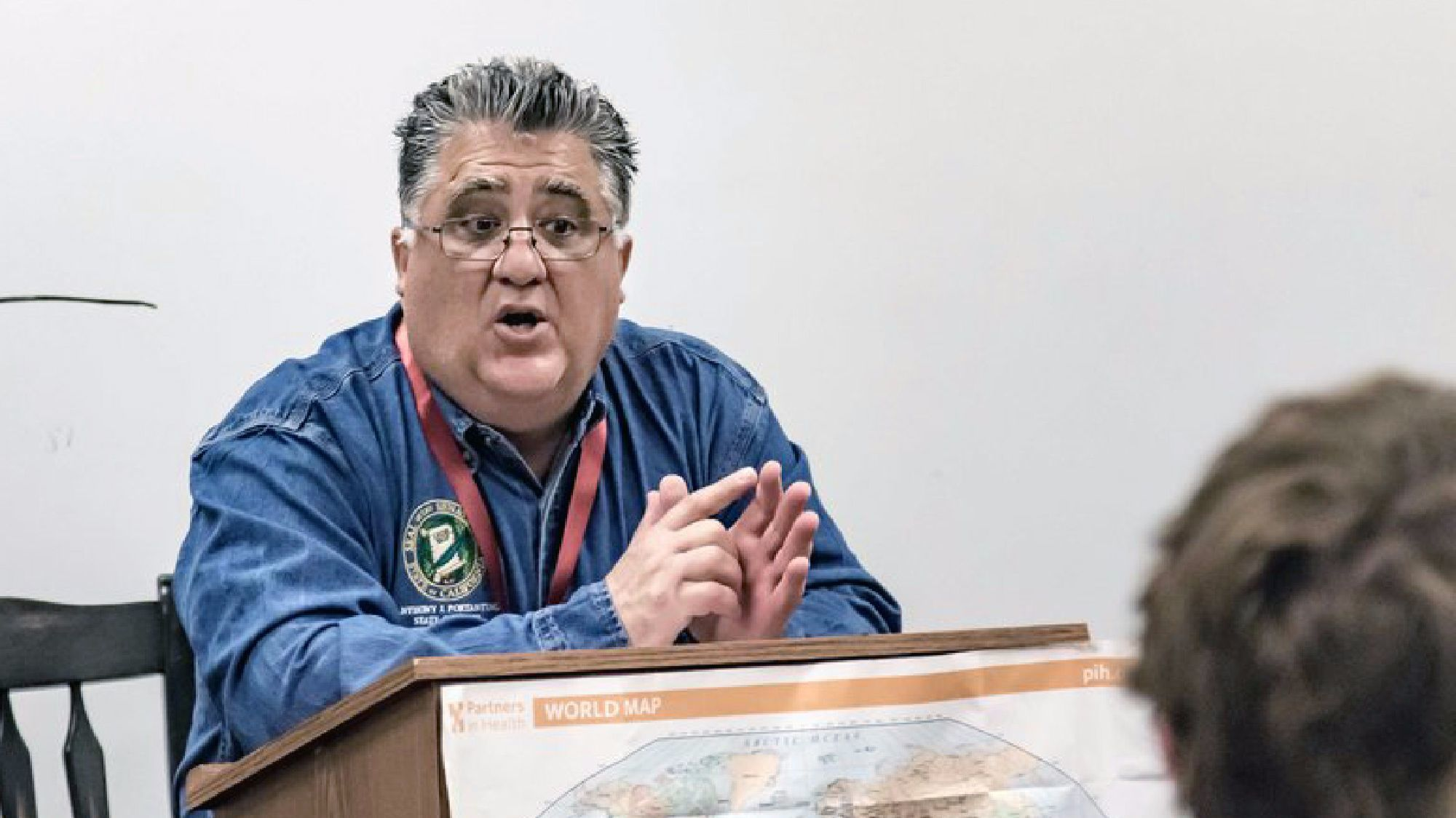 California state Sen. Anthony Portantino, shown speaking to La Cañada High School students recently, wants to shake up the California ballot. (The Spartan Collective)