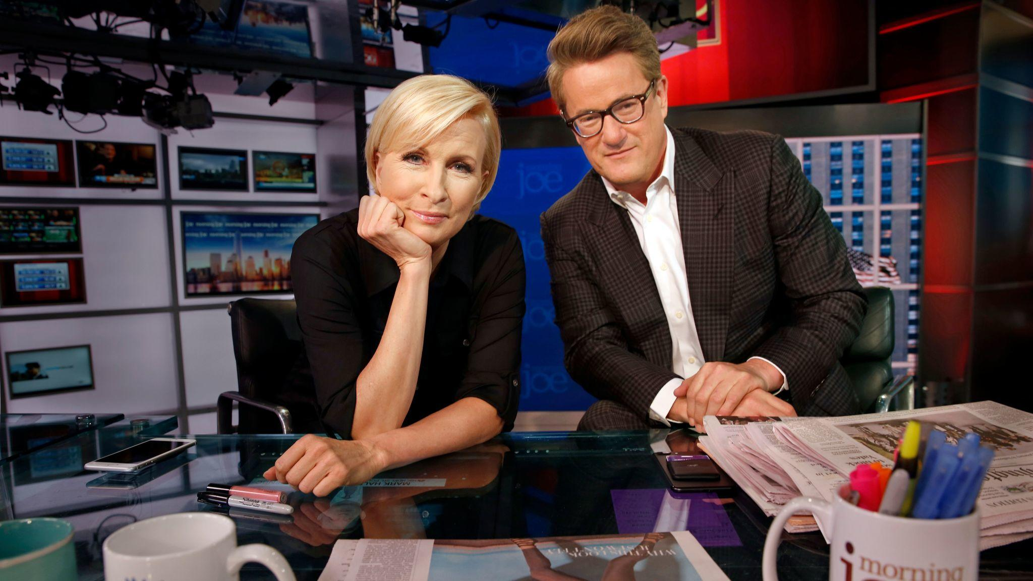 "Mika Brzezinski and Joe Scarborough are co-hosts of MSNBC's ""Morning Joe."" (Carolyn Cole / Los Angeles Times)"