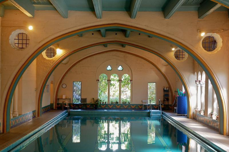 Swim in a cool hearst worthy pool that julia morgan - Indoor swimming pools in los angeles ca ...