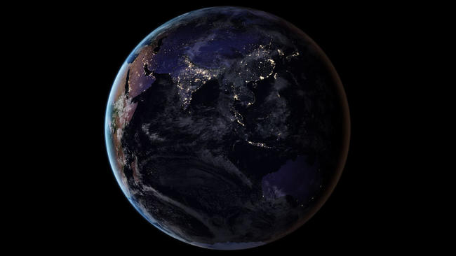 NASA Releases New Global Map Of Earth At Night Orlando Sentinel - Map of the world from space at night