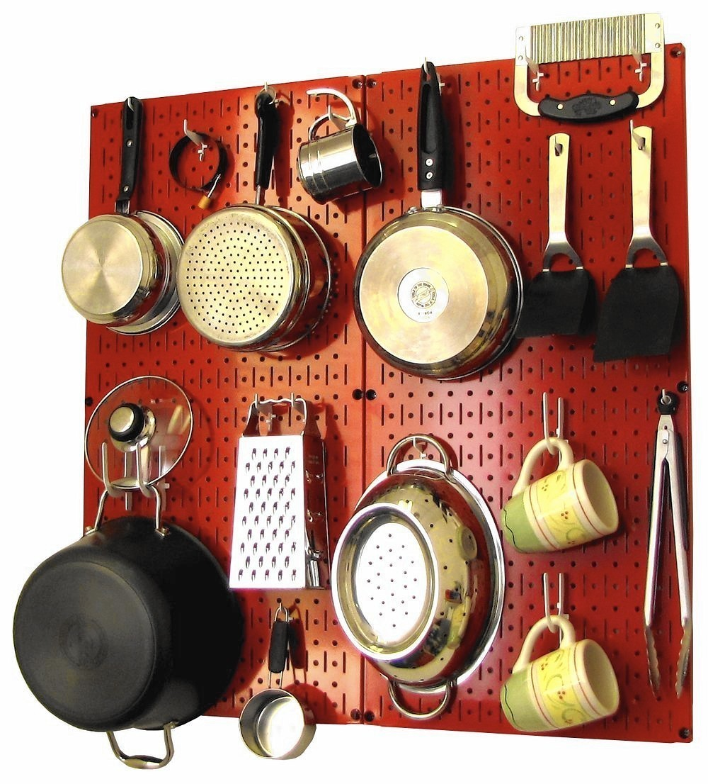 kitchen overflowing? try modern take on julia child-style pegboard