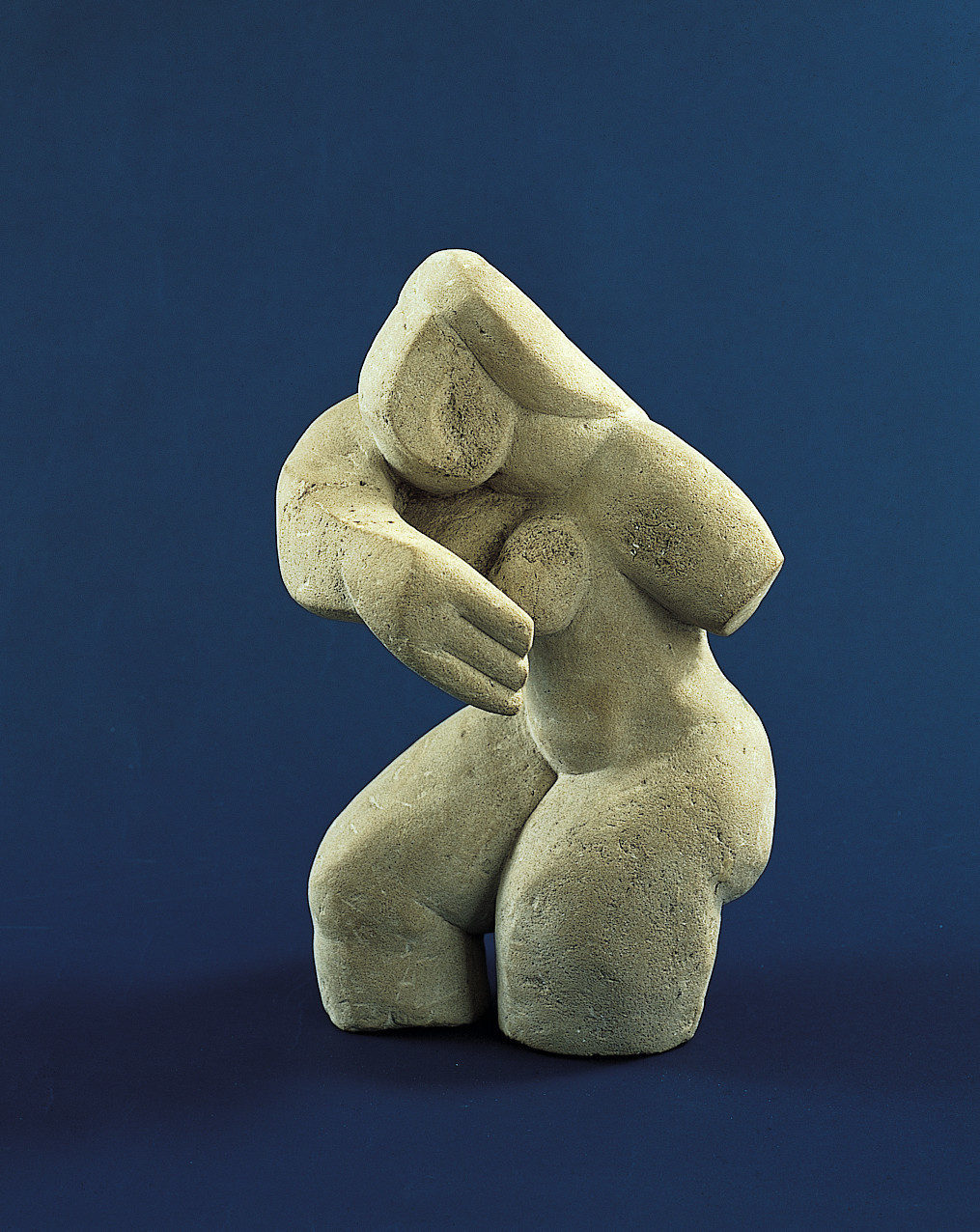 """Suzanne,"" a limestone sculpture by Alexander Archipenko — part of an exhibition about dealer Galka Scheyer at the Norton Simon."