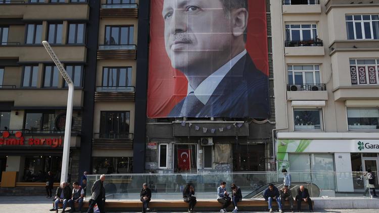 Turkish Mussolini, Erdogan, Poster