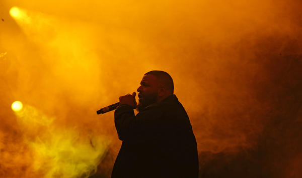 DJ Khaled performs on Day 3 of Coachella. (Luis Sinco / Los Angeles Times)