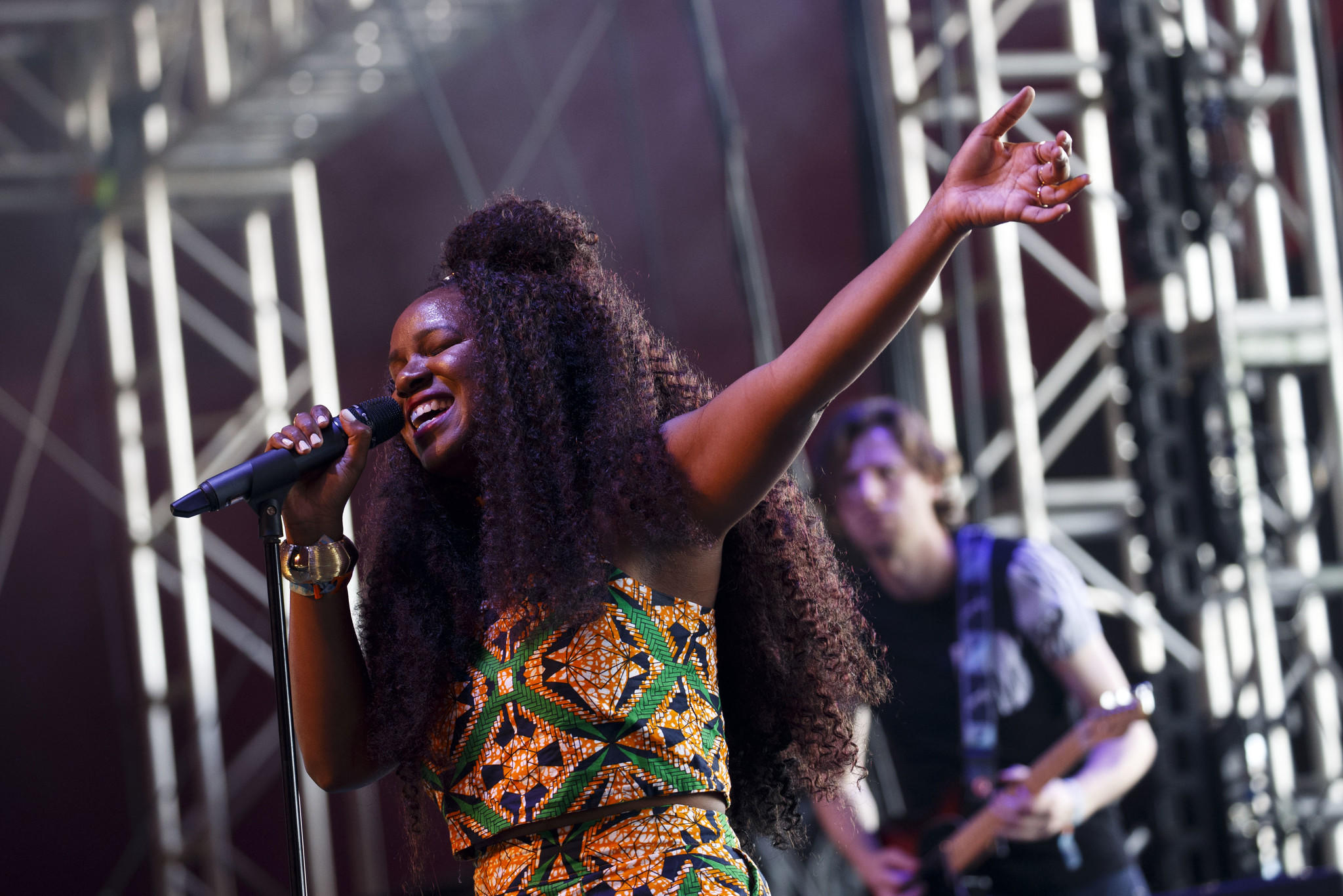 <p>British singer-songwriter Neo Jessica Joshua, known as NAO, performs.</p>