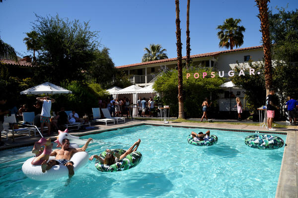 A view of Popsugar's Cabana Club pool party at Colony Palms Hotel in Palm Springs on April 15. (Getty Images)
